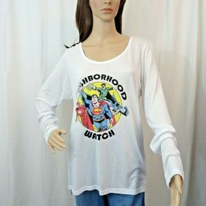 Justice League Neighborhood Watch Top Tee Strappy